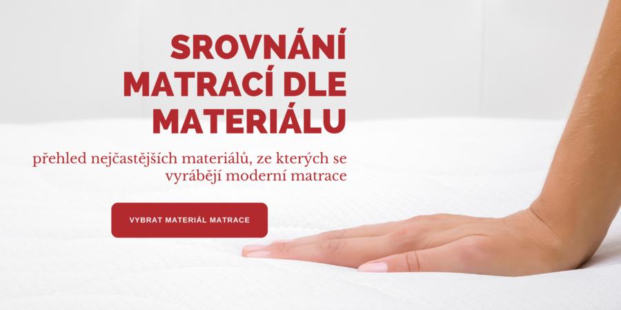 Srovnání matrací dle materiálu